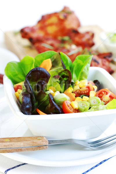 Stock photo: Small salad