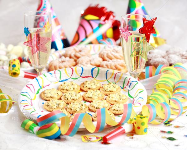 Karnevál buli kellékek új év születésnapi buli üveg Stock fotó © brebca