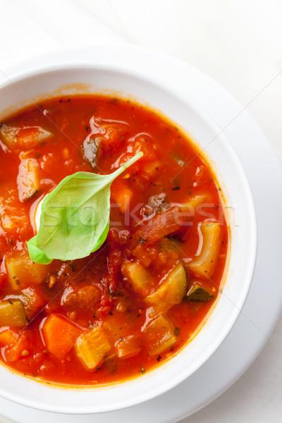 Sopa caseiro delicioso manjericão comida Foto stock © brebca