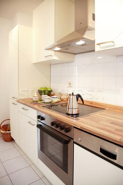 Mutfak iç aile ev beyaz dizayn ev Stok fotoğraf © brebca