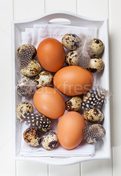 Easter still life with eggs Stock photo © brebca