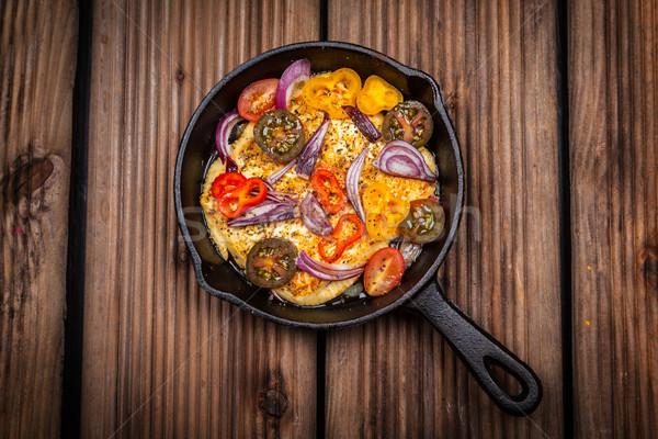 焼き チーズ サラダ オーブン レストラン 羊 ストックフォト © brebca