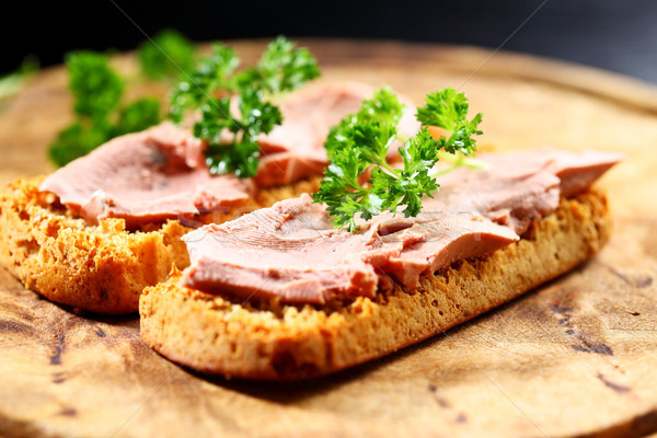 Bruschetta with liver pate Stock photo © brebca