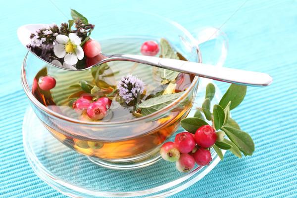 Vitalidad té menta Berry agua Foto stock © brebca
