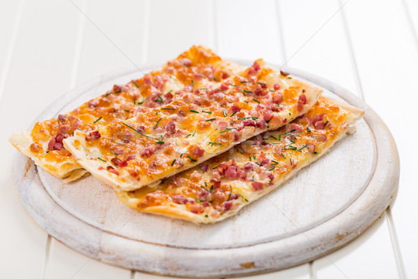 Flammkuchen or Traditional Alsatian Pie Stock photo © brebca