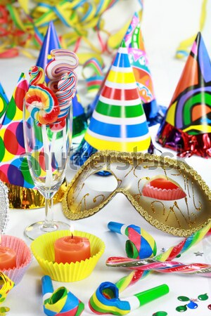 Masquerade Mask and champagne Stock photo © brebca