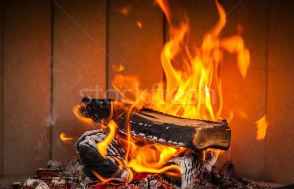 Fireplace Stock photo © brebca