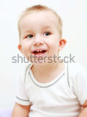 Gülen bebek portre sevimli gülme Stok fotoğraf © brebca