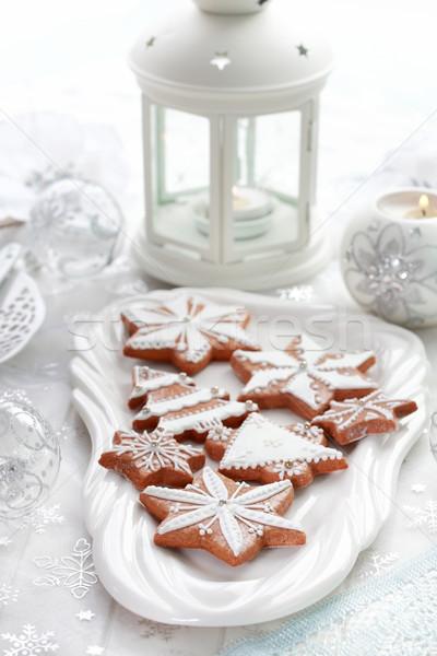 Stock fotó: Karácsony · mézeskalács · csendélet · finom · torta · labda