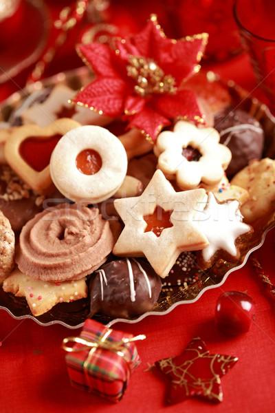 ストックフォト: クリスマス · クッキー · 詳細 · キャンドル · 赤