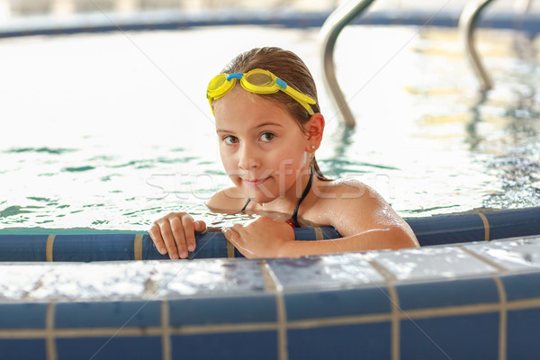 Child relaxing at whirlpool Stock photo © brebca