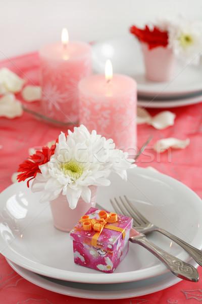 Romantik tablo valentine doğum günü diğer olay Stok fotoğraf © brebca
