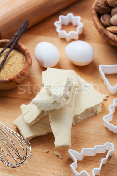 Almond paste with baking ingredients Stock photo © brebca