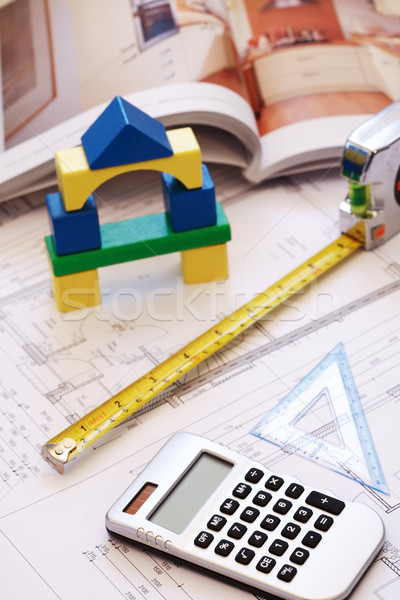 Planlama yeni aile ev ev arka plan Stok fotoğraf © brebca