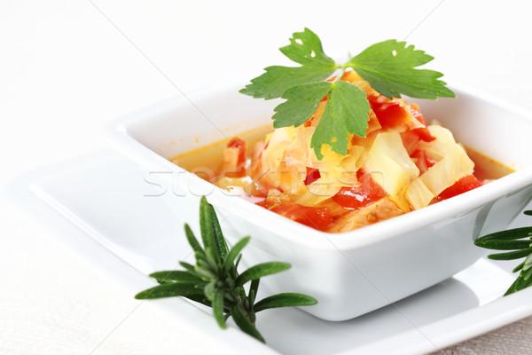 Plantaardige kool stoven laag calorie voedsel Stockfoto © brebca