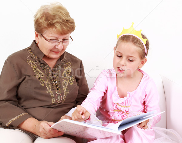 Reading with granny Stock photo © brebca