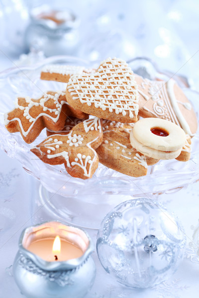Christmas gingerbread and cookies Stock photo © brebca