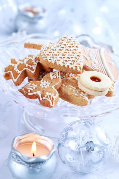 Noel zencefilli çörek kurabiye natürmort lezzetli kek Stok fotoğraf © brebca