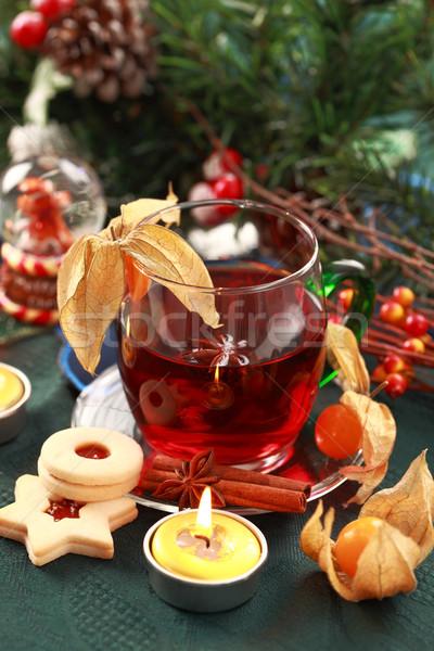 Bebida quente inverno natal delicioso bolinhos vinho Foto stock © brebca