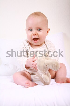 Lächelnd Baby Porträt cute lachen Stock foto © brebca