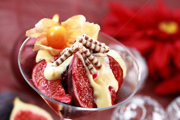 Christmas dessert Stock photo © brebca