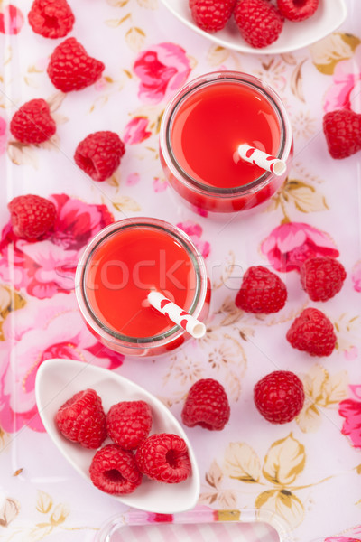 Raspberry smoothie Stock photo © brebca
