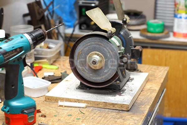 Warsztaty temperówka inny narzędzia drewna budowy Zdjęcia stock © brebca