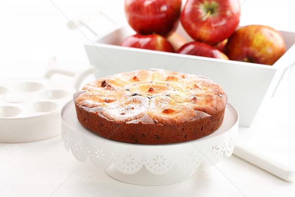 ストックフォト: リンゴ · チーズケーキ · 自家製 · 新鮮な · リンゴ
