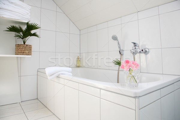 Bathroom detail in white Stock photo © brebca