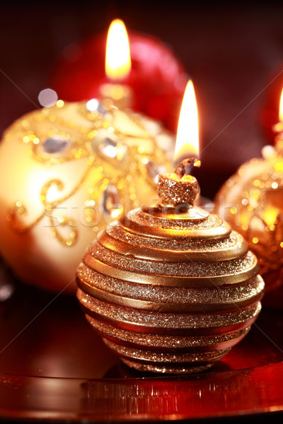 Christmas candle Stock photo © brebca