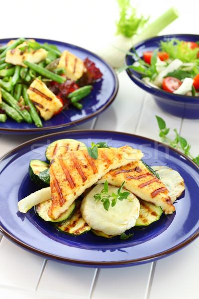 Gegrild kaas groenten salade groene diner Stockfoto © brebca