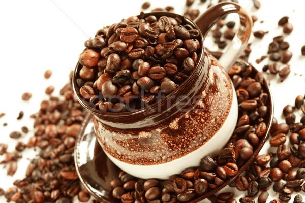 чашку кофе кофе белый продовольствие кофе пить Сток-фото © brebca