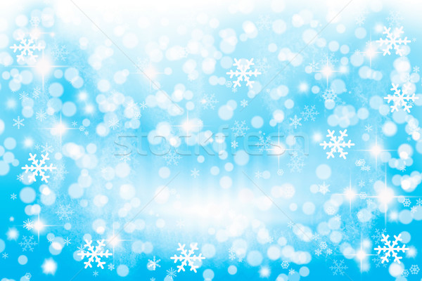 Stock photo: Winter lights background