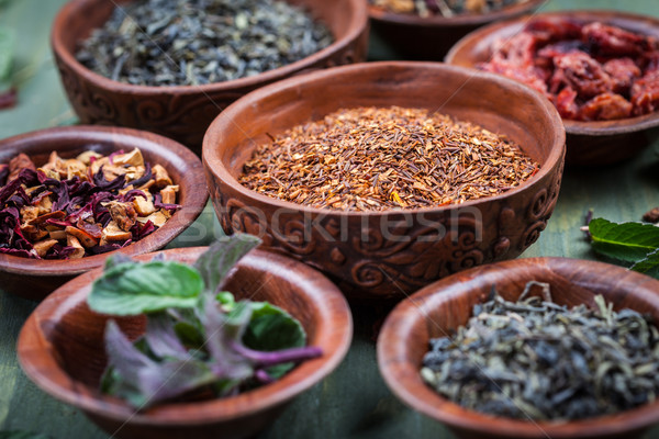 Assortment of dry tea Stock photo © brebca