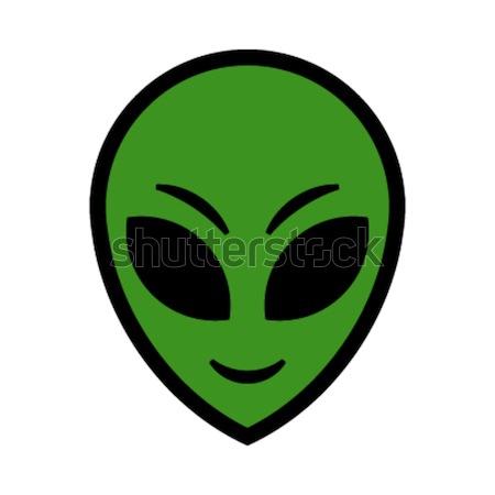 Alienígena cabeça vetor ícone olho fundo Foto stock © briangoff