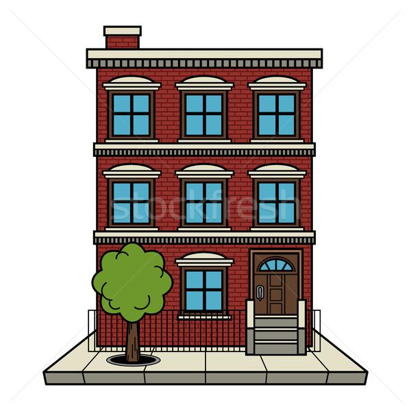 Apartment building vector Stock photo © briangoff