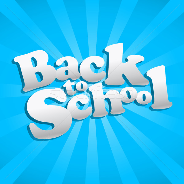 Back to School vector text graphic icon Stock photo © briangoff