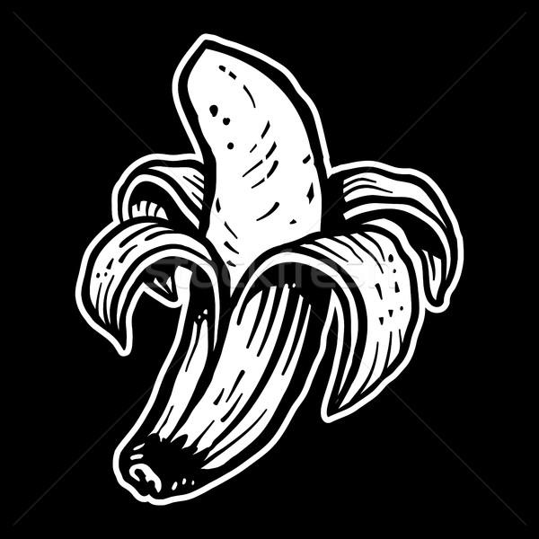 банан фрукты фон еды тропические желтый Сток-фото © briangoff
