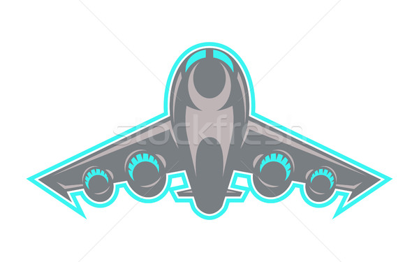 Airplane Flying Vector Icon Stock photo © briangoff