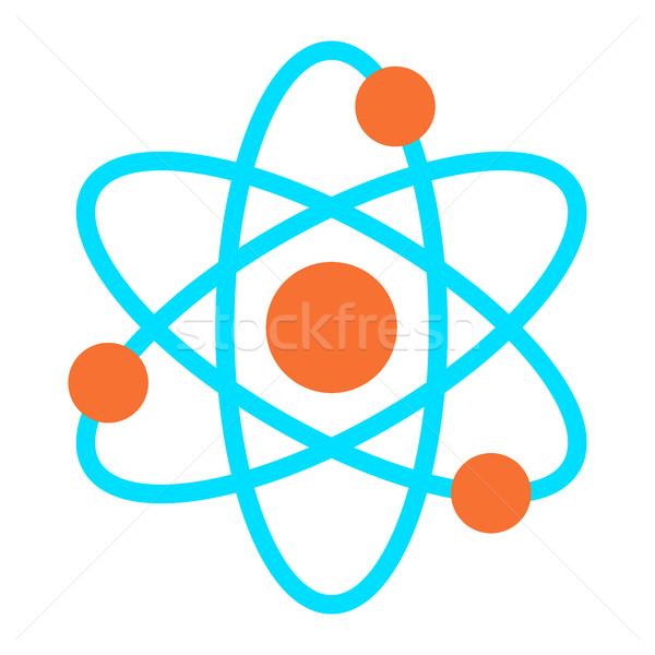 динамический атом науки символ вектора икона Сток-фото © briangoff