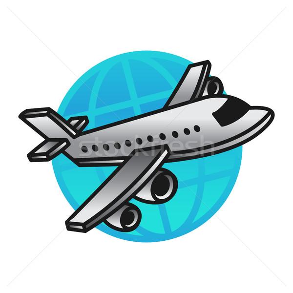 飛行機 飛行 ベクトル アイコン 旅行 空港 ストックフォト © briangoff