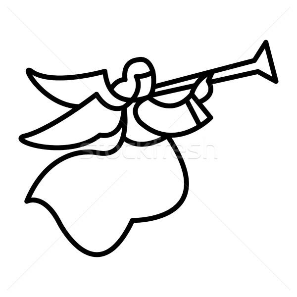 дизайна ангела Перу силуэта свободу Сток-фото © briangoff