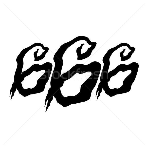 666 Graphic Lettering Stock photo © briangoff