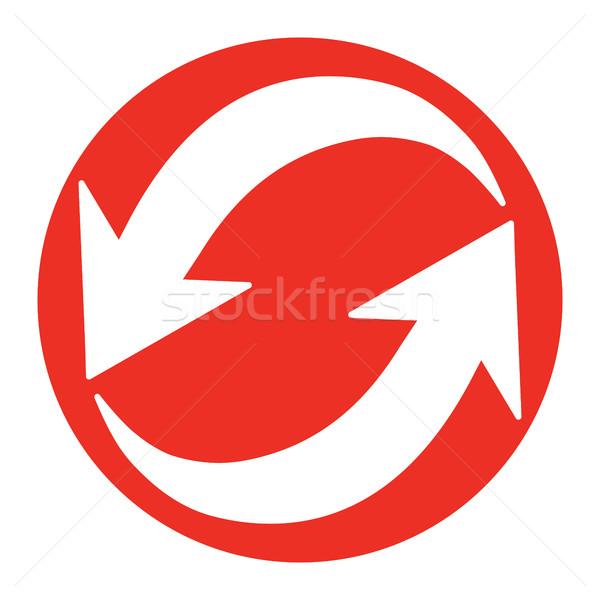 стрелка вектора икона синий цифровой кнопки Сток-фото © briangoff