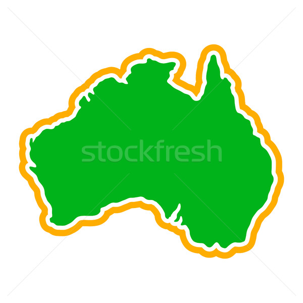 Australia Map Geography Shape vector icon Stock photo © briangoff