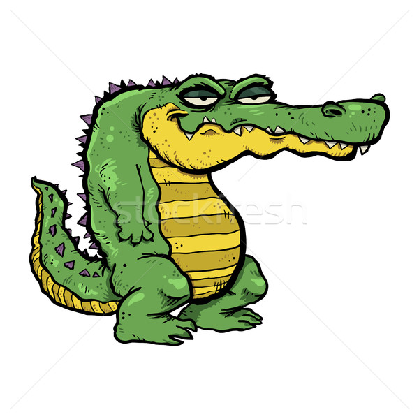 аллигатор Cartoon природы зеленый голову парка Сток-фото © briangoff