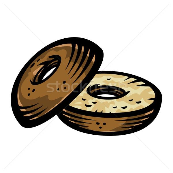 Bagel vector icon Stock photo © briangoff