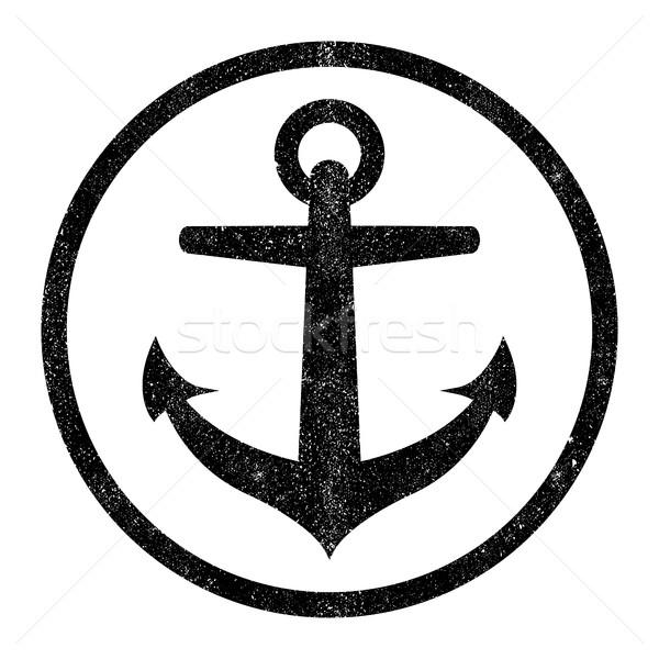 якорь вектора икона дизайна лодка силуэта Сток-фото © briangoff