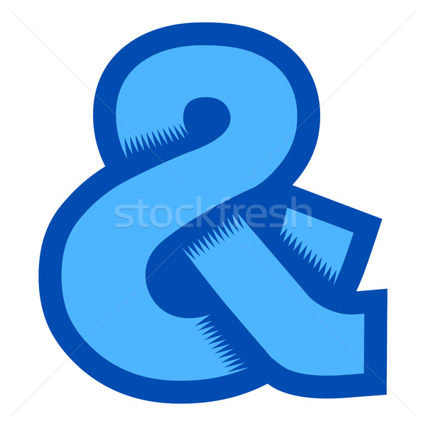 Ampersand vector icon Stock photo © briangoff