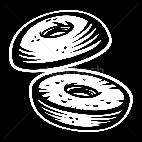 Bagel vector icon Stock photo © briangoff
